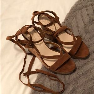 Guess Lace Up Wedges